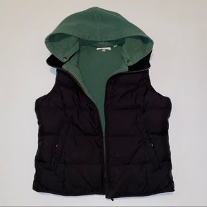 Vince puffer vest with removable hood size small